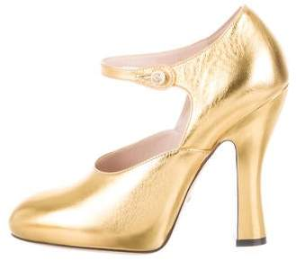 9a28575a2 Gucci Mary Jane Pumps - ShopStyle