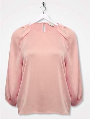 M&Co Sonder Studio pleat shoulder blouse