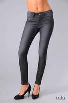 Ksubi Spray On Skinny Zip Jeans in Pre Loved Black