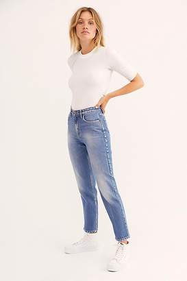 Lee High Rise Straight Ankle Jeans at Free People