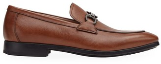 Salvatore Ferragamo Ree Pebbled Leather Loafers