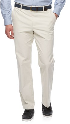 Croft & Barrow Big & Tall Classic-Fit Easy-Care Stretch Flat-Front Khaki Pants