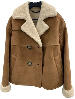 Burberry Brown Shearling Jackets