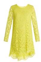 ADAM by Adam Lippes Long-sleeved guipure-lace trapeze mini dress