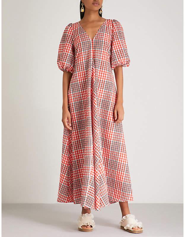 Ganni Charron cotton-blend maxi dress