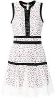 Just Cavalli open embroidery mini dress