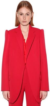 Balenciaga Wool Stretch Twill Blazer W/ 3d Sleeves