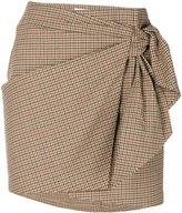 Etoile Isabel Marant knotted check skirt - women - Cotton/Spandex/Elastane - 38