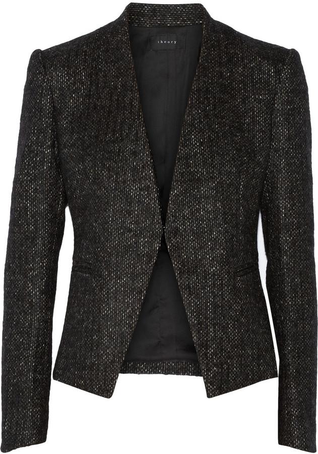 Theory Lanai metallic tweed blazer