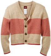 Tea Collection Leonardo Cotton Stripe Cardigan (Baby Boys)