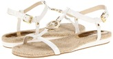 MICHAEL Michael Kors Hope Sandal (Optic White Patent) - Footwear