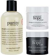 philosophy Cleanse & Renew 3 Piece Skincare Collection