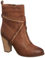 Antelope Strappy Stitched Leather Mid Boot