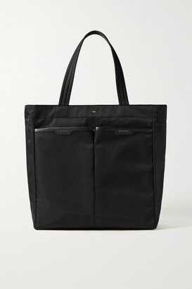 Anya Hindmarch Nevis Leather-trimmed Shell Tote - Black
