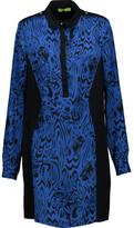 Versace Printed Silk And Jersey Mini Dress