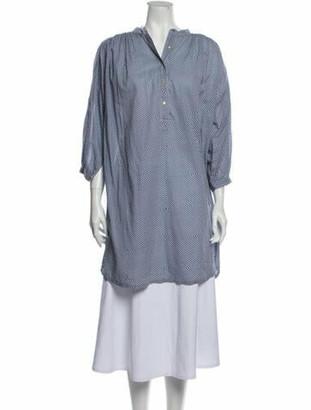 Ulla Johnson Striped Mini Dress Blue