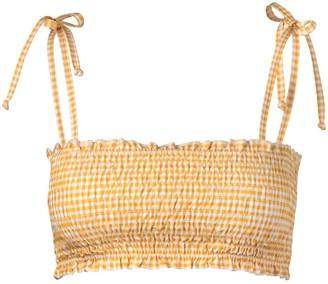 VERDELIMON Missouri Smocked Gingham Bikini Top