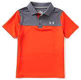Under Armour Big Boys 8-20 Performance Blocked Polo Shirt
