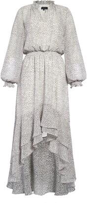 1 STATE Serene Animal Print Long Sleeve High/Low Dress