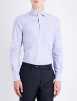 Corneliani Checked cotton shirt