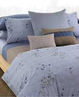 Calvin Klein Home Bamboo Flowers Corded Blocks King Coverlet