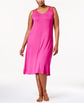 Thalia Sodi Plus Size Lace-Trimmed Keyhole-Back Knit Nightgown, Created for Macy's