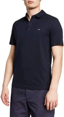 Michael Kors Men's Paisley Woven Polo Shirt