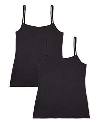 Iris & Lilly Women's Basic Microfibre Tank Vest, Pack of 2,(Manufacturer size: )