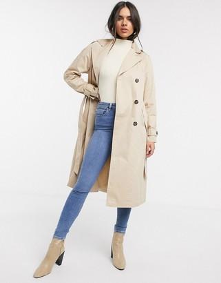 Vero Moda classic trench coat in beige