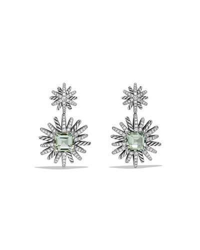 David Yurman Starburst Prasiolite & Diamond Drop Earrings