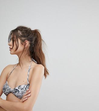 Wolfwhistle Wolf & Whistle Snakeskin Bikini Top