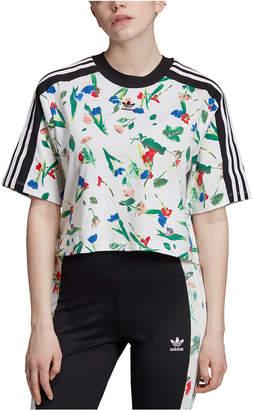 adidas Bellista Cropped Floral T-Shirt