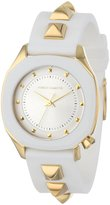 Vince Camuto Women's VC/5106WTWT Gold-Tone Pyramid Accented Resin Strap Watch