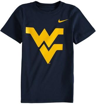 Nike Preschool Navy West Virginia Mountaineers Logo T-Shirt