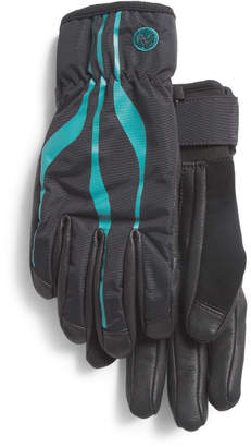 Spring Stretch Nylon And Leather Gloves