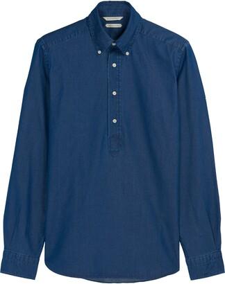 Suitsupply Slim Fit Half Button Cotton Shirt