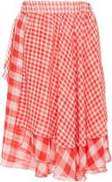 Alcoolique Aqua Plaid Skirt