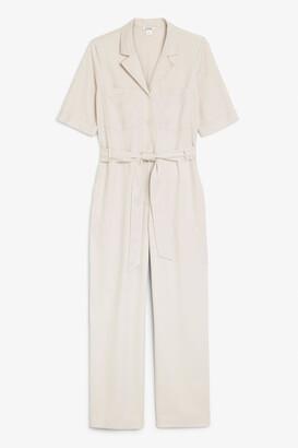 Monki Utility tie-waist jumpsuit