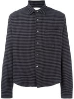 Our Legacy cropped initial gingham shirt