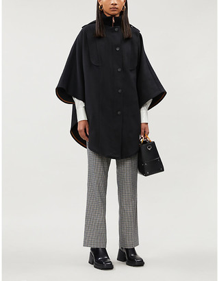 See by Chloe Knitted twill poncho