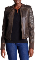 Levi's Levi&s Genuine Leather Knit Panel Jacket