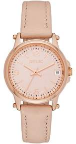 Relics by Fossil Women's Matilda Rose Gold and Blush Pink Leather Watch