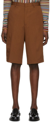 Paul Smith Brown Oversized Wool Shorts