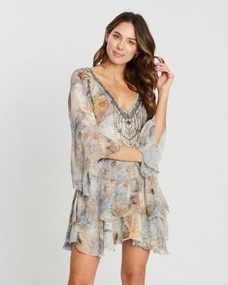 Camilla Layered Frill Short Dress