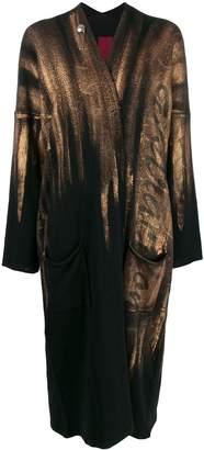 Masnada brushed gold cardi-coat