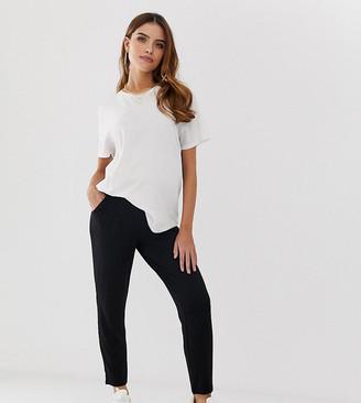 Asos DESIGN Maternity under the bump ultimate jersey peg pants-Black