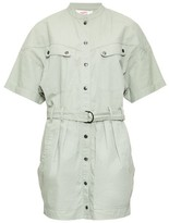 Etoile Isabel Marant Zolina Belted Cotton Shirtdress - Womens - Khaki