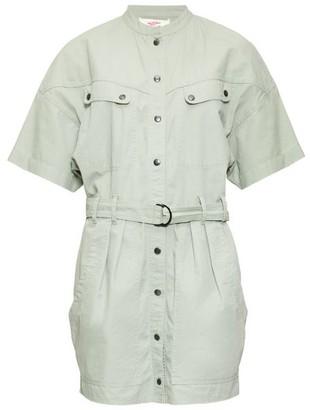 Etoile Isabel Marant Zolina Belted Cotton Shirt Dress - Khaki