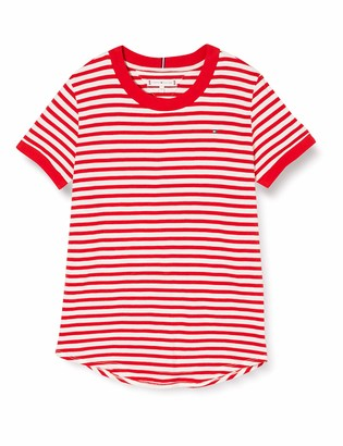 Tommy Hilfiger Girl's Essential Stripe TOP S/S T-Shirt