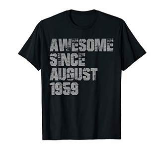 Awesome Since August 1959 T-Shirt Born In August 1959 Tee